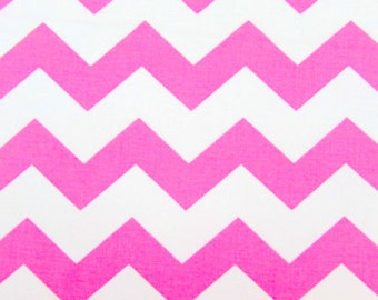 """Chevron, 1"""" Pink Fabric By the Yard"""
