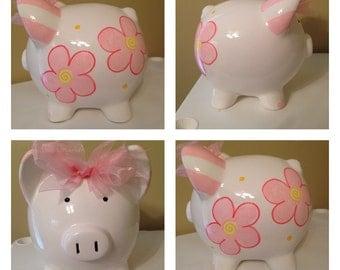 Peyton Pink Piggy Bank