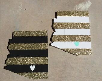 Glitter Striped State