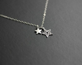 Silver Star Necklace - Star necklace in Sterling silver  - Delicate necklace - Minimalist necklace