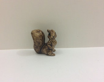 Small handmade squirrel figurine