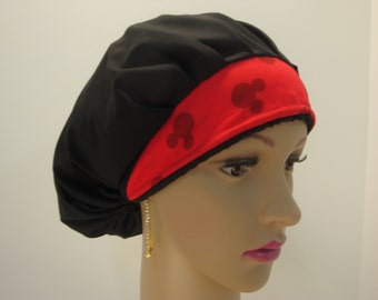 Bouffant-Handmade -Medical Scrub-Nurses Cap-Woman Hat-100% Cotton.