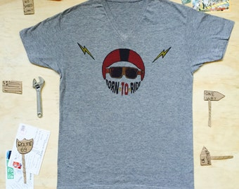 "T-shirt MOTO 80's ""born to ride"""