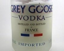Handpoured Soy Candle - Recycled Bottle - Upcycled Bottle  - Grey Goose Vodka Bottle - Housewarming