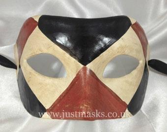 Harlequin Masquerade Mask