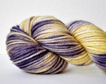 Hand Dyed Superwash Merino Bulky Yarn-Violet
