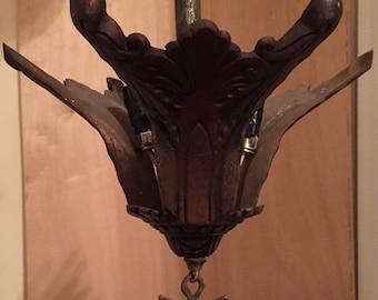 Bronze antique chandelier
