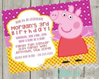 Printable Peppa Pig Birthday Invitation - Nick Jr Invitation