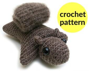 Squirrel amigurumi pattern - squirrel crochet pattern, flying squirrel stuffed animal, kawaii squirrel amigurumi, easy pattern, woodland ami