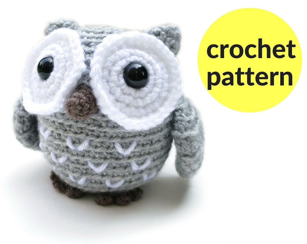 Crochet Pattern For Pikachu Doll : Little owl amigurumi pattern crochet owl pattern plush owl