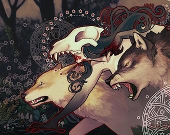 Werewolf Goddess 11x17 Print