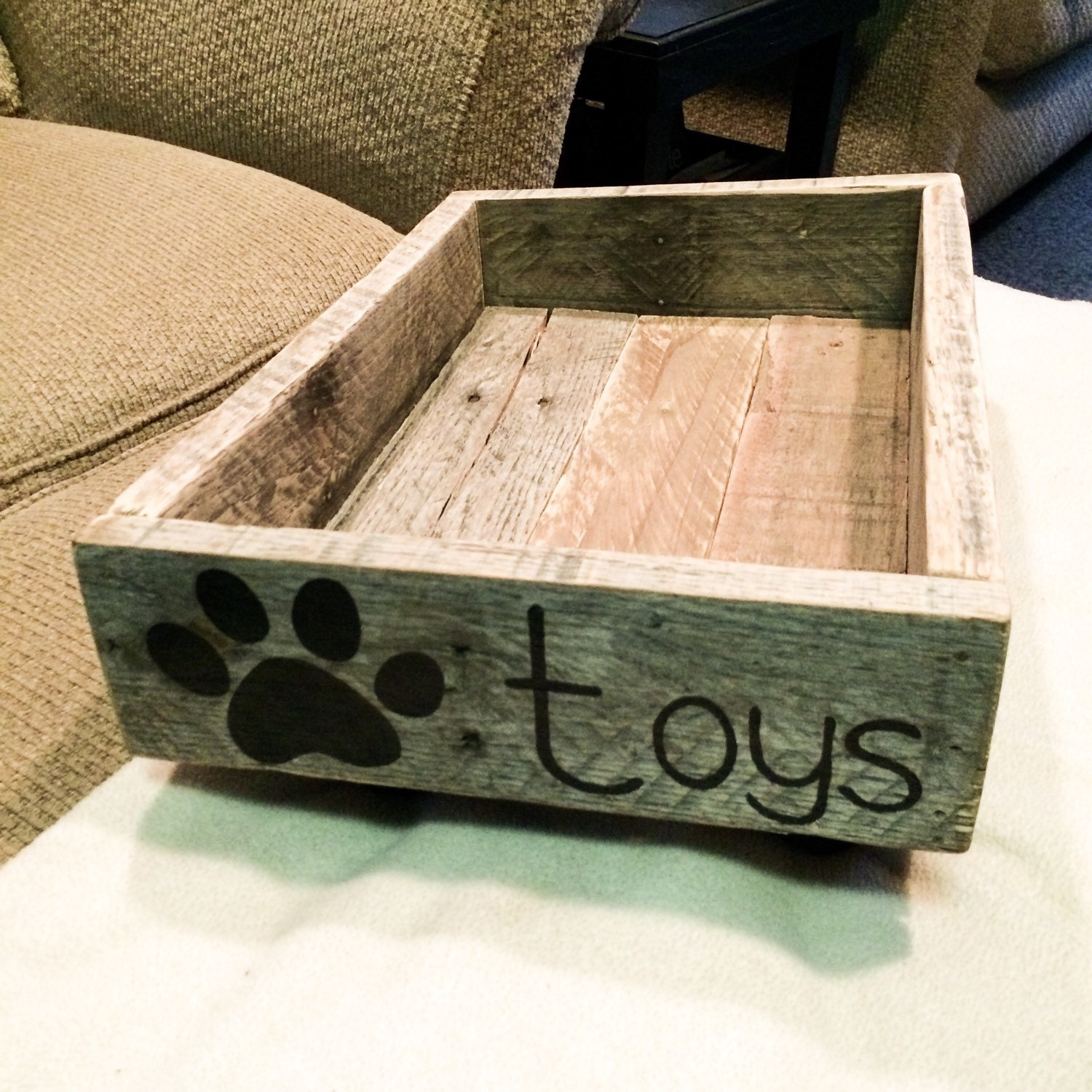 Dog Toy Box Crate By Craftingupcuteness On Etsy