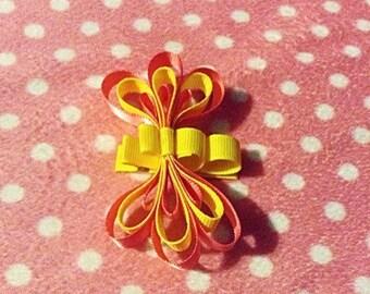 Loopy ribbon butterfly hair clip