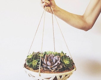 READY TO SHIP (rustic only!) -  Structured Hanging Planter