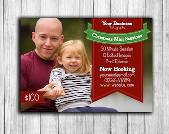 Holiday Mini Session Template, Christmas photoshop online marketing, photography template for christmas marketing, psd holiday set