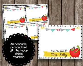 50% OFF SALE Teacher Appreciation - Personalized Cards - Printable - Card - Editable - Instant Download - Gift Card Holder