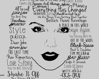 Taylor Swift Typographic Poster Print
