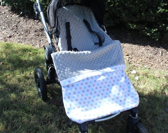 Stroller Blanket, Carseat Blanket, Stroller Liner, Stroller Footmuff- POLKA DOTS