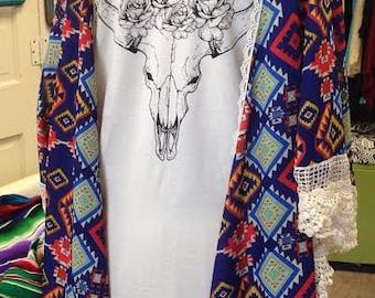 Blue Aztec Kimono