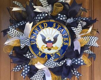 U S NAVY Wreath