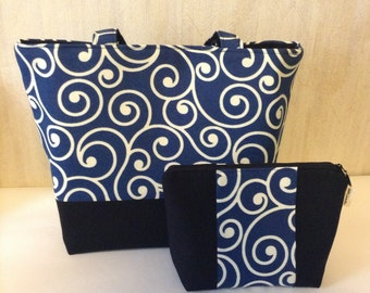 Tote bag and pouch set