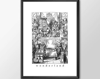 Wonderland 2 - Traditional Alice In Wonderland Art - PRINTED - BUY 2 Get 1 FREE