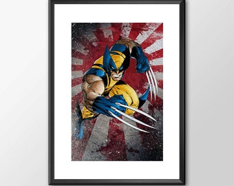 The Wolverine in Action - Digitally Painted Tribute  - PRINTED - BUY 2 Get 1 FREE