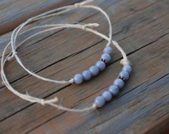 Grey Tibetan Hemp Bracelet