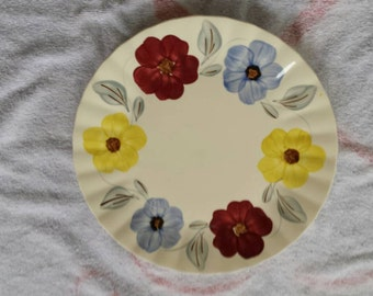 Southern Potteries flower plate