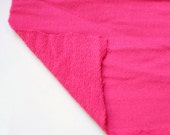 FRENCH TERRY FABRIC: Fuchsia French Terry Knit  Fabric. Sold by the yard