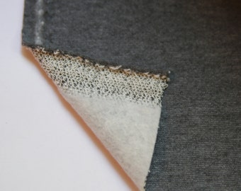 SWEATSHIRT FLEECE Fabric: Charcoal Gray sweatshirt fleece fabric. Sold by the yard
