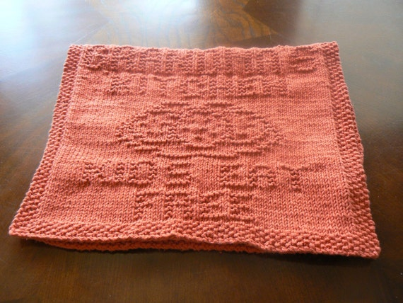 Gorgeous Grandma's Goodies Hand Knit Cotton Dish Towel Oven Hanger