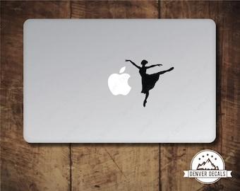 Ballerina Macbook Sticker Dancing with the Apple Dancer Mac Decal