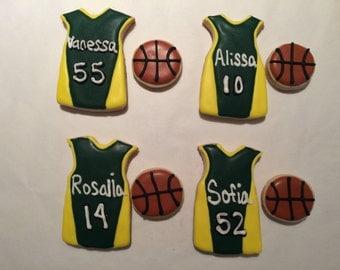 Basket Balls and Team Jersey Sugar Cookies