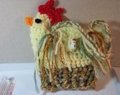 For Chicken Lovers Only Light Yellow Setting Hen Bag. Handmade and design created by me! Washable.