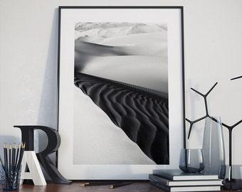 DESERT PHOTO PRINT #6 printable photography, minimalist fine art photography, monochrome wall art
