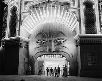 Luna Park Coney Island vintage photo New York NY cool poster boardwalk 1940s photograph-PRINT