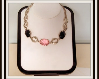 High fashion brand new 925 sterling silver purple and pink Swarovski crystal NECKLACE