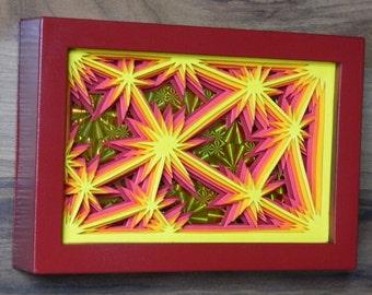 3D Paper Sculpture Sparks Flame