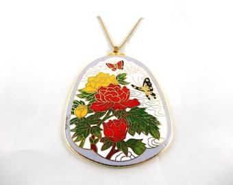 White Enamel Pendant Necklace