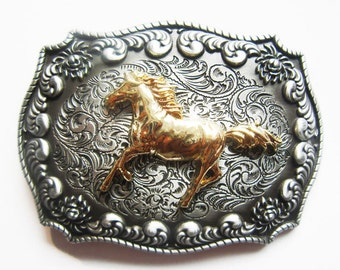 Horse Western Cowboy Rodeo Belt Buckle
