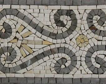 Repetitive Symmetrical Pattern Border Frame Design Marble Mosaic BD10