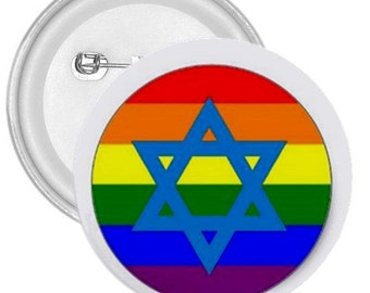 "Jewish N Gay gigantic 3"" pin button"