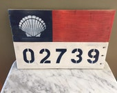 Nautical Themed Sign with Custom Zip Code
