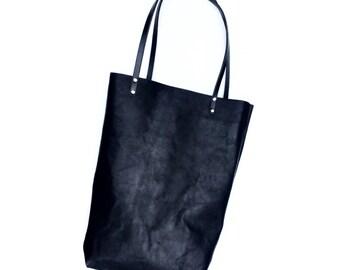 Minimal Market Tote - Leather Bag - Handle Tote