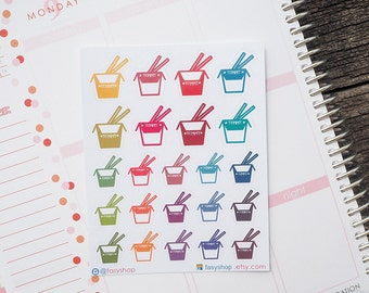 23 Takeout Meals Sticker Planner