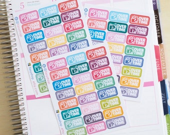 24 OT - Overtime Day - Sticker Planner
