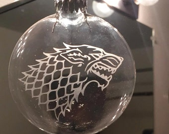 Custom-Etched Clear Glass Disc Ornament