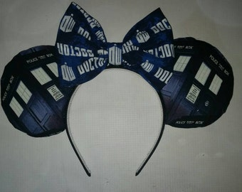Doctor Who Tardis inspired Mickey ears