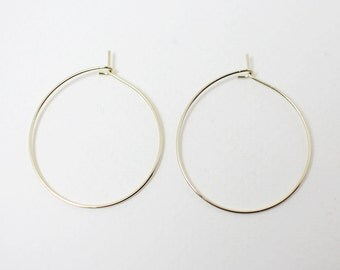 B0009/Anti-tarnished Gold Plating Over Brass/Hoop Earwire/28mm(diameter)/10pcs